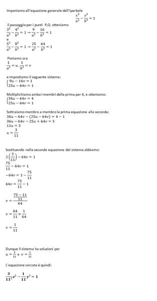 equazione iperbole